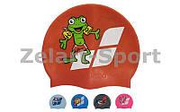 Шапочка для плавания детская AR-91233-20 MULTI JR CAP 06 ASS (силикон, цвета в ассортименте)