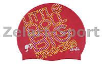 Шапочка для плавания детская AR-91672-91 BARRBIE FW11 (силикон, розовый)