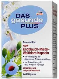 Витамины Das gesunde Plus Knoblauch-Mistel-Weibdorn 240таб, фото 2