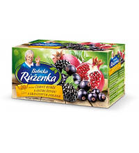 Чай  Babicka Ruzenka cerny rybiz s ostruzinou a granatovym jablkem 20 пакетов