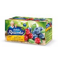 Чай Babicka Ruzenka сucoriedky s brusnicami 20 пакетов