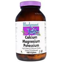 Bluebonnet Nutrition, Калий Кальций Магний 180 капсул