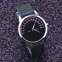 Часы Спидометр зеленые