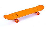 Скейтборд в сборе (роликовая доска) SK-5615-1 (колесо-PU, р-р деки 79х19х1см, АВЕС-7, красный)