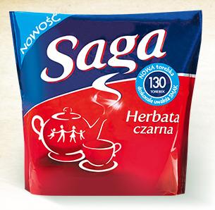 Чай черный Saga Herbata czarna 130 пакетов