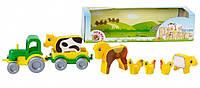 Набор трактор с фигурками Тигрес Ранчо Kid cars (39280)