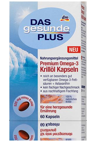 Биологически активная добавка  Das gesunde Plus Premium Omega-3 Krillol 60таб