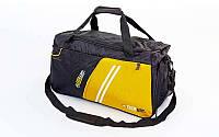 Сумка спортивная DUFFLE BAG ZEL GZ-1034 (PL, р-р 53х25х30см, черный, зеленый, красный, синий)