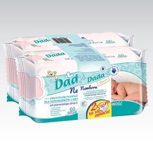 Салфетки детские Dada Newborn 60 шт