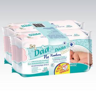 Салфетки детские Dada Newborn 60 шт, фото 2