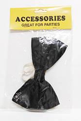 Бабочка-галстук (бабочка черная, карнавальная)