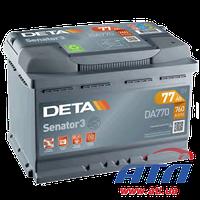 Аккумулятор 6CT-77 А (0) Senator 3 (DA770), правый +, 760A