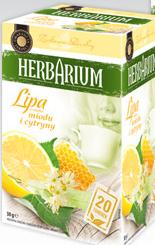 Чай Herbarium Lipa, miody i cytryny 20 пакетов, фото 2