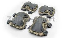 Защита тактическая наколенники, налокотники BC-4703-H (ABS, полиэстер 600D, пиксель ACU PAT)