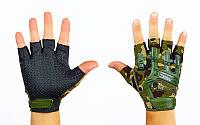 Перчатки тактические с открытыми пальцами MECHANIX BC-4926-HG(L) (р-р L, камуфляж Woodland)