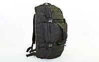Сумка-рюкзак трансформер тактический TY-186-BK (PL, нейлон оксфорд 900D, р-р 66х32х17см, черный)
