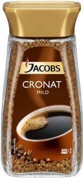 Кофе Jacobs Cronat Mild растворимый 100% arabica 200г, фото 2