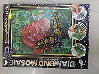 Алмазная живопись ДМ-02-08 Роза DIAMOND MOSAIC малий ДТ (1/10)