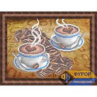 Схема для вышивки бисером Кофе с сердечками