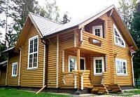 Деревянные дома. Оцилиндрованное бревно. Украина, экспорт.