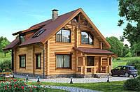 Деревянные дома и гостиницы из оцилиндрованного бревна. Украина, экспорт.