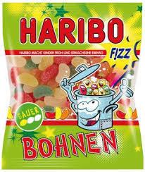 Жевательные конфеты Haribo Saure Bohnen Fizz 200г, фото 2