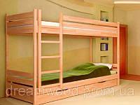 Двухярусные кровати Нота, массив дуб, ясень, фото 1