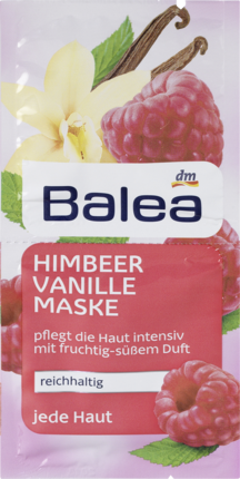 Маска для лица Balea Himbeer Vanille ваниль и малина 2х8мл
