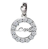 Подвеска серебряная 925 пробы LOVE Любовь в Фианитах
