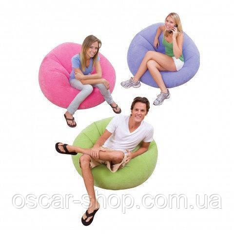 Надувное кресло Beanless Bag Chair INTEX /Интекс107х104х69 см