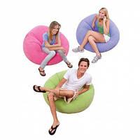 Надувное кресло Beanless Bag Chair INTEX /Интекс107х104х69 см , фото 1