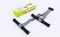 Эспандер многофункц. для пресса и рук с креплением на дверь PS FI-903C (PL,неопр,пласт, l-56-105см)
