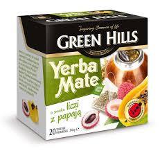 Чай Green Hills Yerba Mate o smaku liczi z papaja 20 пакетов