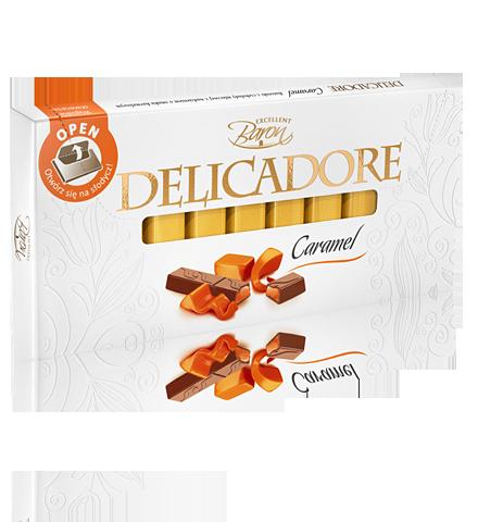 Шоколад Baron Excellent Delicadore Caramel молочный с карамелью 200 г
