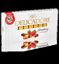 Шоколад Baron Excellent Delicadore Strawberry молочный с клубникой 200 г