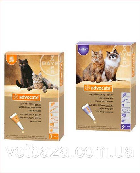 Капли Адвокат для кошек от 4 до 8 кг 1*0,8 мл  №1 Bayer