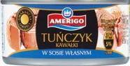 Консервированный тунец Amerigo в собственном соку 130г