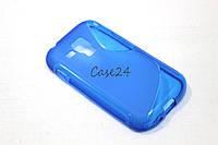 Чехол накладка для Samsung Galaxy S S7562 синий, фото 1