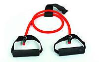Эспандер трубчатый с ручками с дверным фиксатором FI-2659-R 30LB (латекс,d-6x10мм, l-120см, красный)