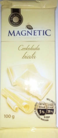 Шоколад Мagnetic белый 100 г, фото 2
