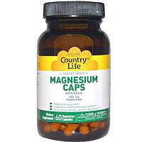 Country Life, Target-Mins, магний в капсулах, 300 мг, 60 вегетарианских капсул
