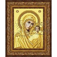 TO063ан1622 Бисерная заготовка для вышивания схемы-картины Казанская Икона Божией Матери