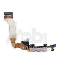 Шлейф для iPhone 4G коннектор зарядки c компонентами черный