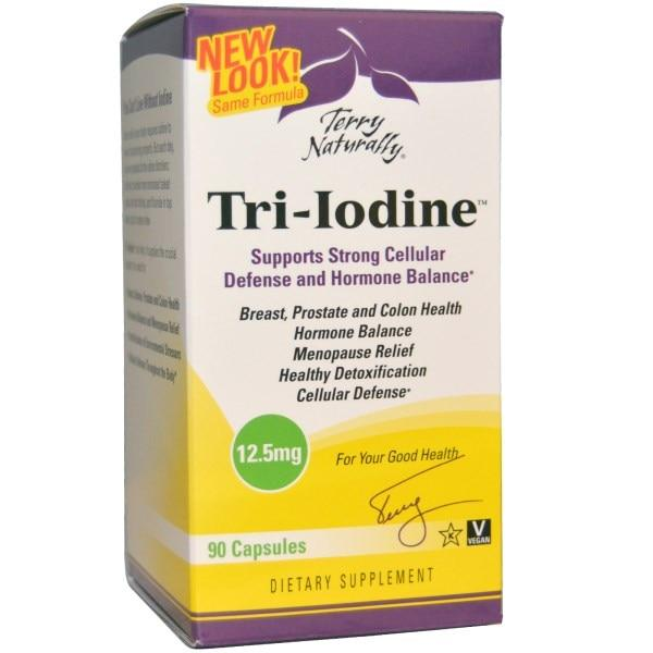 EuroPharma, Terry Naturally, Terry Naturally, Tri-Iodine, 12,5 мг, 90 капсул