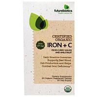 FutureBiotics, Сертифицированное Органическое Железо + Витамин C, 90 Растительных Органических таблеток
