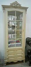 """Буфет классическом стиле """"Регина"""" со стеклянными фасадами, фото 3"""