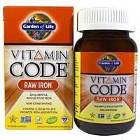 Garden of Life, Витаминный комплекс с железом, 30 капсул в растительной оболочке