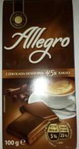 Шоколад Allegro черный 45% какао 100г