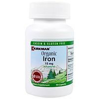 Kirkman Labs, Органическое железо, 15 мг, 90 капсул