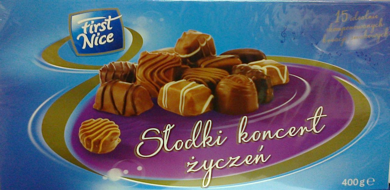 Шоколадные конфеты  First Nice Slodki koncent 400 г